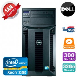 Serveur DELL PowerEdge T310 Xeon Quad Core X3460 32Go Ram Ecc 300Go SAS