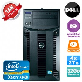 Serveur DELL PowerEdge T310 Xeon X3460 32Go 4x 2To Alimentation Redondante