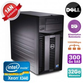Serveur DELL PowerEdge T310 Xeon X3440 32Go 300Go Alimentation Redondante