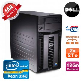 Serveur DELL PowerEdge T310 Xeon Quad Core X3440 12Go Ram Ecc 2x 2To SATA