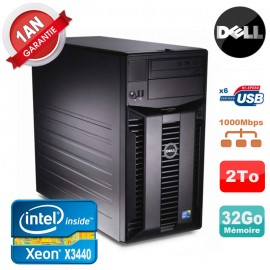 Serveur DELL PowerEdge T310 Xeon Quad Core X3440 32Go Ram Ecc 2To SATA