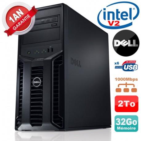 Serveur DELL PowerEdge T110 II Xeon QuadCore E3-1220 V2 32Go Ram Ecc 2To SATA
