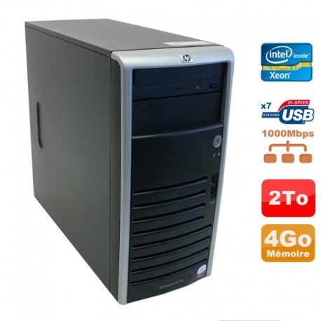 Serveur HP Proliant ML110 G5 Xeon X3330 2.66GHz 4Go Disque 2000Go SATA