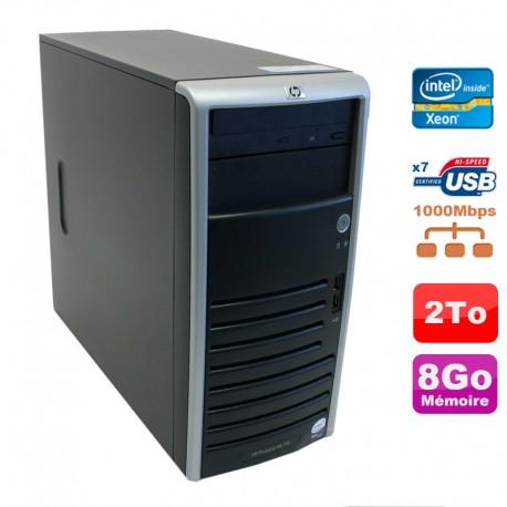 Serveur HP Proliant ML110 G5 Xeon X3330 2.66GHz 8Go Disque 2000Go SATA