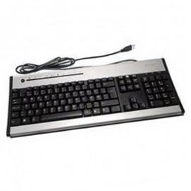 Clavier Azerty Noir Argent USB ACER KU-0355 KB.KUS03.222 PC Keyboard 104 Touches