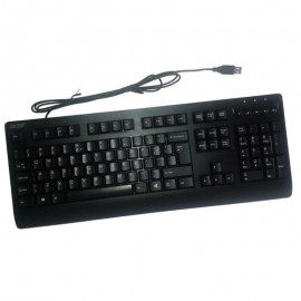 Clavier Azerty Noir USB ACER KB-75211 DP.PR2EE.071 PC Keyboard 104 Touches