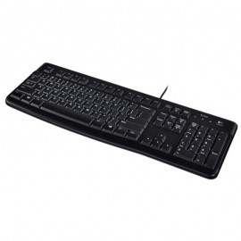 Clavier Azerty Noir USB Logitech K120 Y-U0009 PC Keyboard 104 Touches