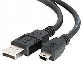 Câble Adaptateur Mini USB vers USB 72cm Noir
