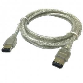 Câble Adaptateur Firewire IEEE1394 6-Pin vers 6-Pin 180cm Plaqué Or