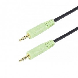 Câble Audio Jack Mâle 3.5mm 150cm Noir