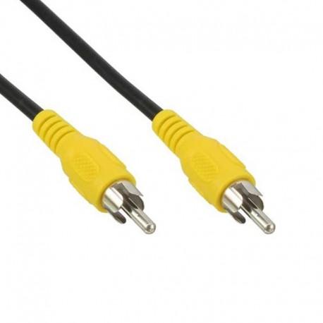 Câble Cordon Adaptateur Externe RCA Vidéo Mâle 1m Jaune