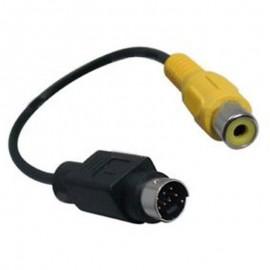 Câble Cordon Adaptateur Externe S-Video 8-Pin vers RCA Vidéo Femelle 16cm