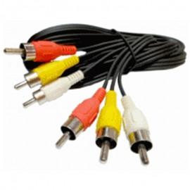 Câble Adaptateur Externe Triple RCA Mâle 1.5m Jaune Rouge Blanc 1495244-00