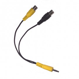 Câble Adaptateur Audio Externe Jack 3.5mm Mâle vers 2x RCA Femelle 22cm