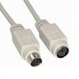 Câble Adaptateur Extension PS/2 6-Pin Mâle vers PS/2 6-Pin Femelle 1.50m Beige