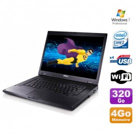 """PC Portable 15.4"""" Dell Latitude E5500 Core 2 Duo T7250 2Ghz 4Go Disque 320Go W7"""