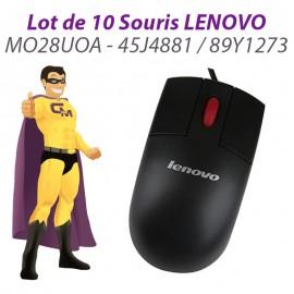 Lot 10x Souris Optique USB LENOVO MO28UOA 45J4881 89Y1273 Noire 3 Boutons 800DPI
