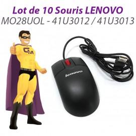 Lot 10x Souris USB Optique LENOVO MO28UOL 41U3012 41U3013 Noire 3 Boutons 800DPI