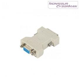 Adaptateur câble DVI M VGA F Carte Ecran Pc Mac 581450 HDVI 24 5MTO HDB15F NEUF