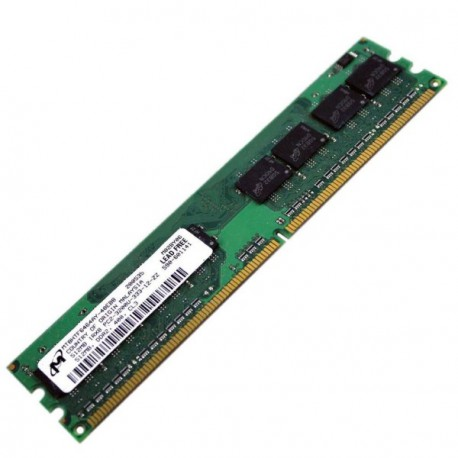 Ram Barrette Mémoire MICRON 512Mo DDR2 PC2-3200 MT8HTF6464AY-40EB8 1Rx8 CL3 PC