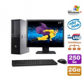 Lot PC HP DC7900 SFF Dual Core E5300 2.6Ghz 2Go 250Go DVD XP Pro + Ecran 17""