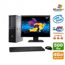 """Lot PC HP DC7900 SFF Dual Core E5300 2.6Ghz 4Go 500Go DVD XP Pro + Ecran 19"""""""