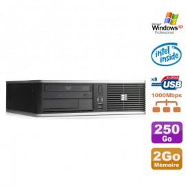 PC HP DC7900 SFF Dual Core E5300 2.6Ghz 2Go Disque 250Go DVD XP Pro