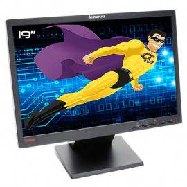 """Ecran PC Pro 19"""" LENOVO ThinkVision L197wA 43R2420 LCD LED VGA DVI VESA Wide"""