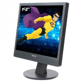 "Ecran PC Pro 19"" SONY SDM-X93 LCD TFT 2x VGA DVI 4x Audio IN 1280x1024 5:4 48cm"