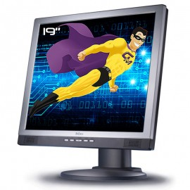"Ecran PC Pro 19"" Belinea 1970 S1 BT10004 LCD TFT TN VGA DVI Audio 1280x1024 VESA"