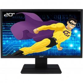 "Ecran PC Pro 20"" ACER V206HQL UM.IV6EE.B06 LCD TFT TN VGA DVI Audio VESA Wide"