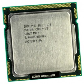Processeur CPU Intel Core I5-670 3.467Ghz 4Mo 2.5GT/s FCLGA1156 Dual Core SLBLT