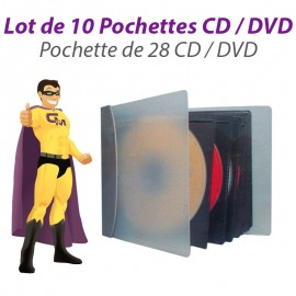 Lot 10x Boîtes Etuis Pochettes 28 DVD CD Range Storage Classeur DJ Pro Boitier