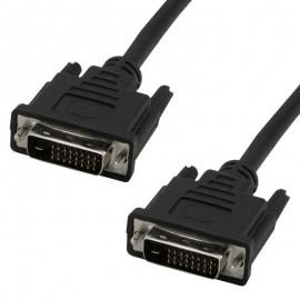 Câble DVI-D Ecran Plat NUMERIQUE Digital Visual Male/Male 1.80m Ferrite Noir