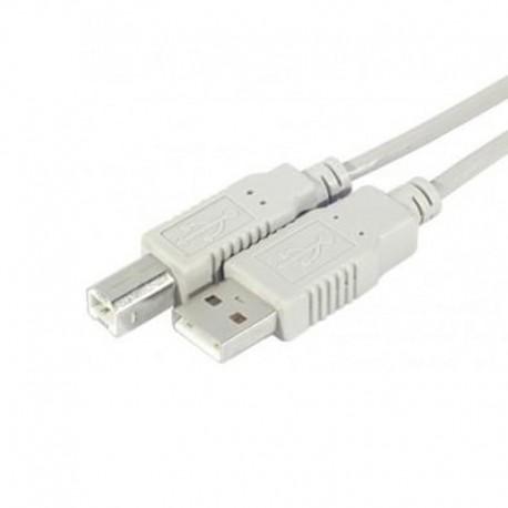 Câble USB 2.0 USB-A vers USB-B 3m 149381 Ordinateur Imprimante Scanner Gris NEUF