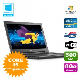 "PC Portable 15.6"" Dell Vostro 15 3549 Core I5-5200U 2.20Ghz 8Go Disque 500Go W7"