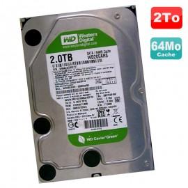 "Disque Dur 2To SATA III 3.5"" WD Caviar Green WD20EARS-00MVW80 7200RPM 64Mo"