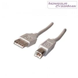 Câble Usb 2.0 A/B 1.8m Ordinateur Imprimante Scanner