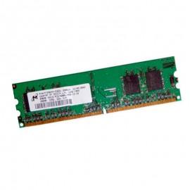 256Mo RAM PC Bureau MICRON DDR2 PC-4200U MT4HTF3264AY-53EB1 Unbuffered 1Rx16