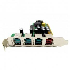 Carte PCI HP RP5700 SP445776-001 KH888AA USB 3x12V 1x24V