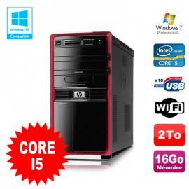 PC HP Pavilion HPE 000 Core i5 650 3.2GHz 16Go DDR3 2To Wifi Graveur DVD W7 Pro