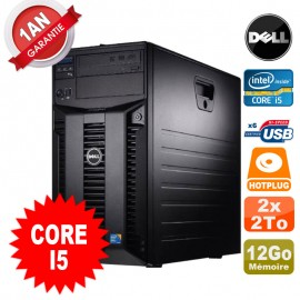 Serveur DELL PowerEdge T310 Intel Core I5-650 3.20GHz 12Go Ram Ecc 2x 2To SATA