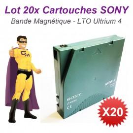 Lot x20 Cartouches SONY LTX800G LTO Ultrium 4 LTO4 800Go 1,6To Lecteur Bande