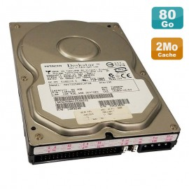 Disque Dur 80Go IDE ATA 3.5 Hitachi Deskstar HDS722580VLAT20 14R9246 7200RPM 2Mo
