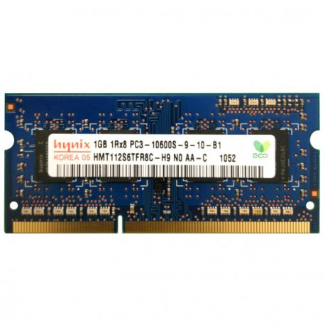 RAM PC Portable SO-DIMM DDR3-1333 MHz Hynix 1GB PC3-10600S CL9 HMT112S6TFR8C-H9