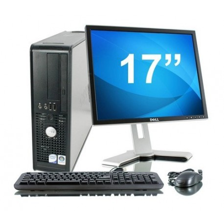 Lot PC DELL Optiplex 780 SFF Core 2 Duo E7500 2.93Ghz 2Go 1To W7 pro + Ecran 17""
