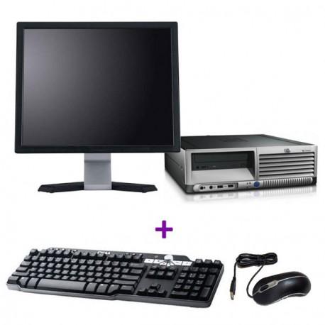 """Lot PC HP Compaq DC7700p SFF Core 2 Duo E6300 1.8Ghz 4Go 2To Win 7 + Ecran 19"""""""
