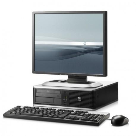 Lot PC HP Compaq DC7800 SFF Pentium Dual Core 1.8Ghz 2Go 500Go XP Pro + Ecran 19
