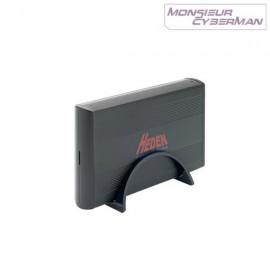 "Boitier Externe Disque Dur 3.5"" USB Aluminium Heden BEHED35V3S USB SATA NEUF"