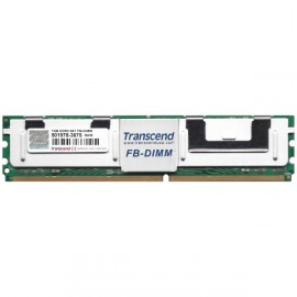 RAM Serveur DDR2-667 Transcend PC2-5300F 1GB Fully Buffered ECC TS128MFB72V6J-T